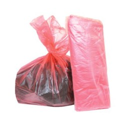 Red Soluble Laundry Bags -...